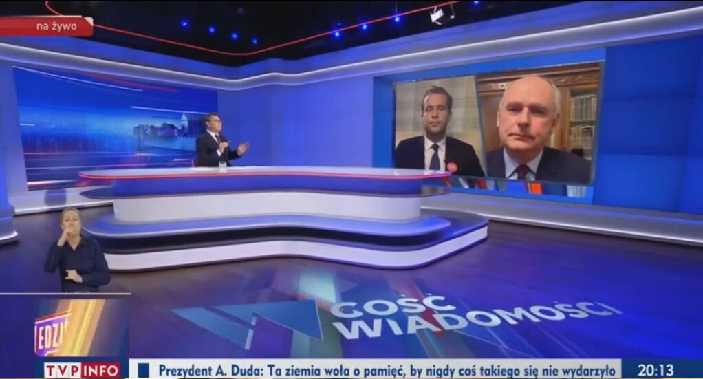 Wybory prezydenckie 2020: Paweł Zalewski z PO i Jan Kantak z PiS byli gośćmi Wiadomości TVP, gdzie prowadzącym był Michał Adamczyk.