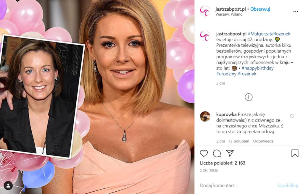 Małgorzata Rozenek obchodziła urodziny, Majdan przygotował niespodziankę, jej prawdziwy wiek jest kwestią sporną na Instagram wybuchała dyskusja ile ma lat?