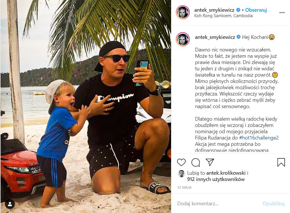 Antek Smykiewicz wyznał w TVN, jak potraktowała go wytwórnia, utknął w Azji przez koronawirus, objęła go kwarantanna, dlatego rozwiązano z nim kontrakt.