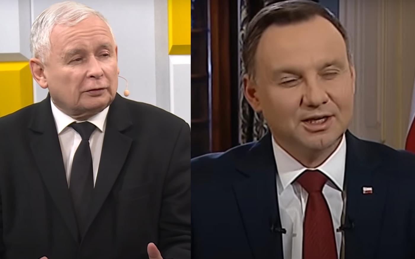 Andrzej Duda przerwał swoje przemówienie, gdy na salę wszedł spóźniony prezes PiS Jarosław Kaczyński. Wszystko miało miejsce na Zamku Królewskim.