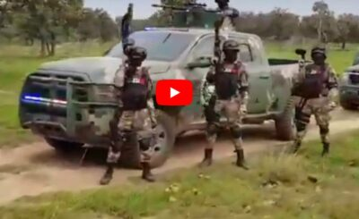 Wideo, które obiegło światowe media jest przerażające, prezentują się na nim oddziały specjalne, wojsko karteli narkotykowych, bronią narkobiznesu.