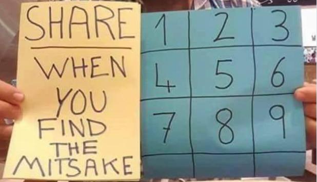 Ta zagadka, którą opublikowano w serwisie Facebook jest wyłącznie dla spostrzegawczych, znajdź błąd, jeżeli Ci się uda świadczy to o twoim geniuszu.
