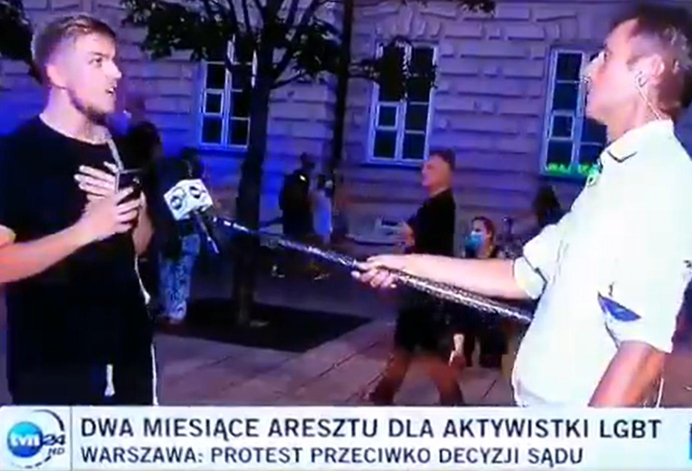 Dziennikarz TVN Paweł Łukasik został ostro upomniany na wizji przez aktywistę LGBT, chodziło o aresztowanie aktywistki trans płciowej Margot.