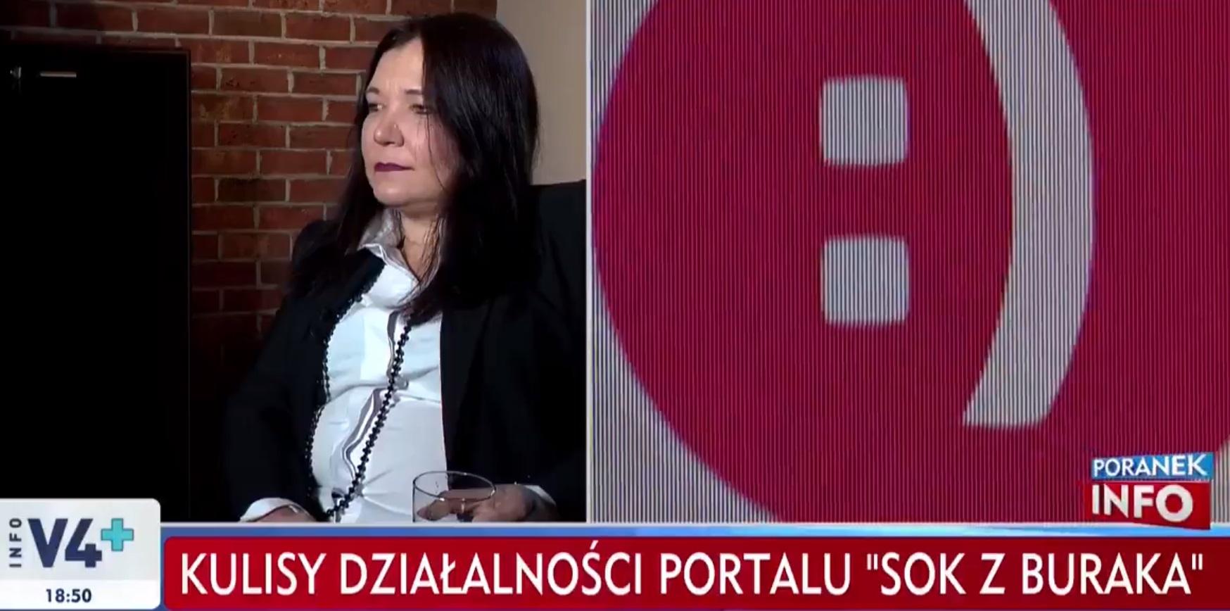 """Aleksandra Wasilewska, była działaczka PO udzieliła wywiadu dla TVP Ino i zdradzić kulisy funkcjonowania strony """"Sok z Buraka""""."""