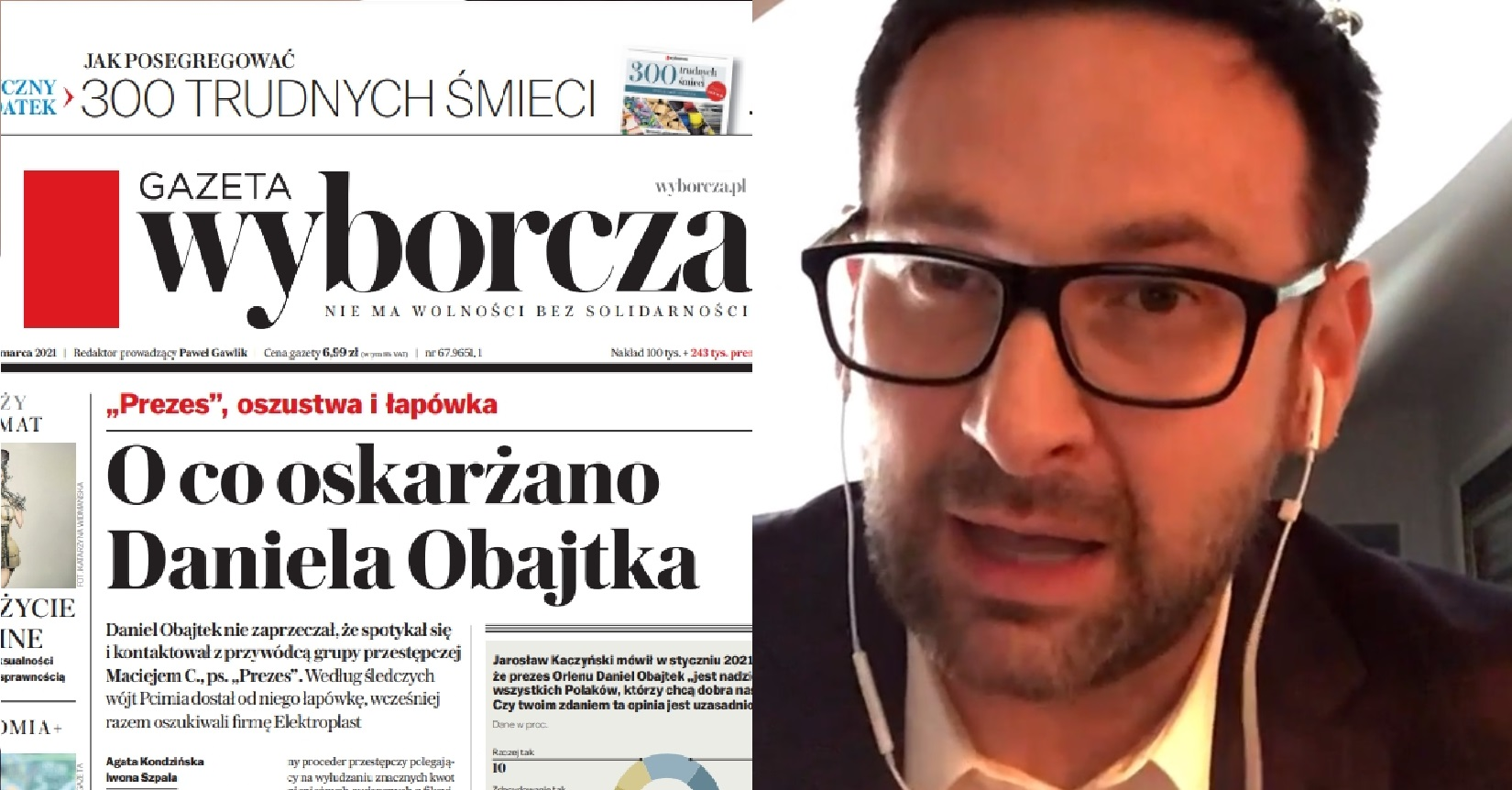 Gazeta Wyborcza usłyszała pierwsze wstępne informacje, sądowa decyzja odnośnie artykułu w którym prezes Obajtek miał dostać zniżkę zapadła