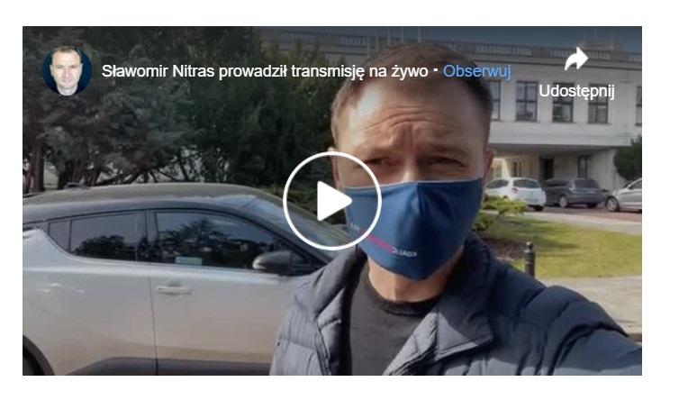 Sławomir Nitras postanowił skomentować zarzuty wobec siebie podczas krótkiego nagrania jakie pojawiło się na Facebooku.