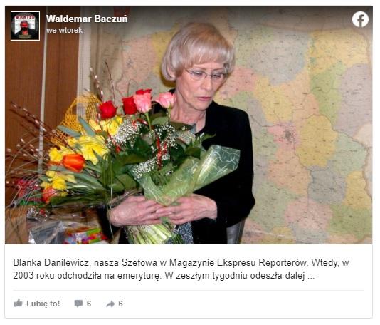 """Blanka Danilewicz nie żyje, ikona TVP zmarła mając 84 lata, przez lata kojarzona z programem """"Ekspres Reporterów"""". Z całej Polski kondolencje"""