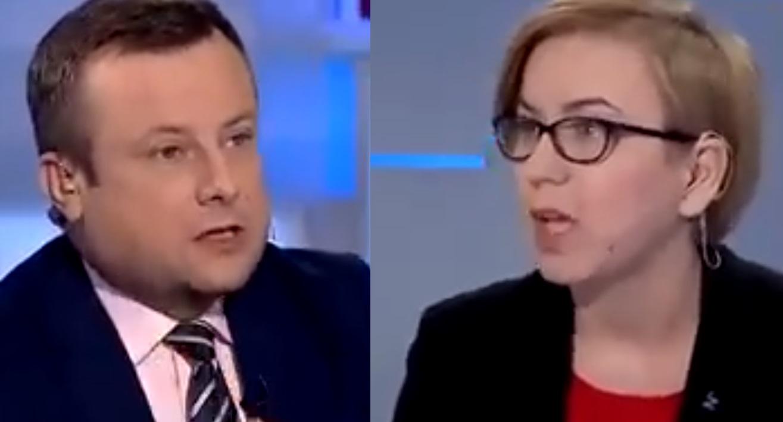 Paulina Hennig-Kloska dla TVP Info w programie który prowadził Adrian Klarenbach, chodziło o fałszowanie historii. Internauci przypominają