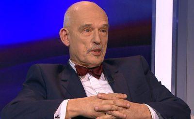 """Janusz Korwin-Mikke gościł w programie """"Minęła 20"""" w TVP, na antenie padły bardzo mocne słowa, nazwął między innymi ministra Niedzielskiego mordercą"""