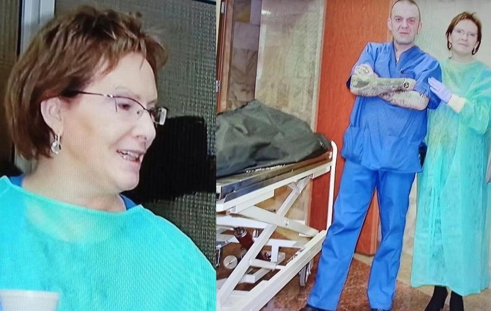 Ewa Kopacz po katastrofie smoleńskiej była w rosyjskim prosektorium, wykonano zdjęcia które wstrząsnęły Polakami… uśmiechnięta, z filiżanką