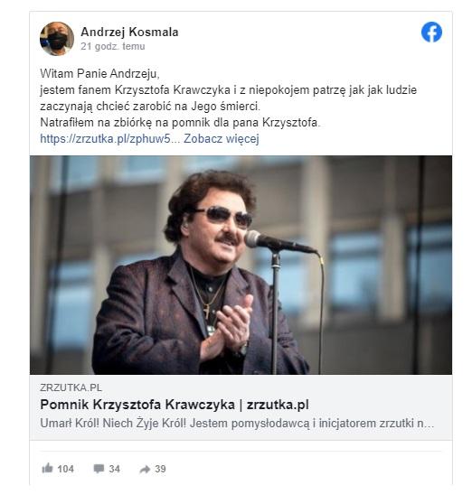 Nie zdążyliśmy wszyscy przywyknąć do faktu, że Krzysztof Krawczyk nie żyje, dopiero co odbył się pogrzeb, a tu kolejny skandal  i afera