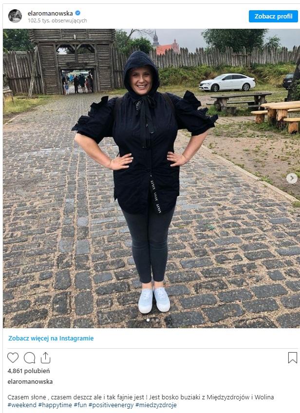 Gwiazda serialu TVP Ranczo Elżbieta Romanowska zawsze przykuwała uwagę swoimi gabarytami, teraz jednak na Instagram pokazała że schudła.