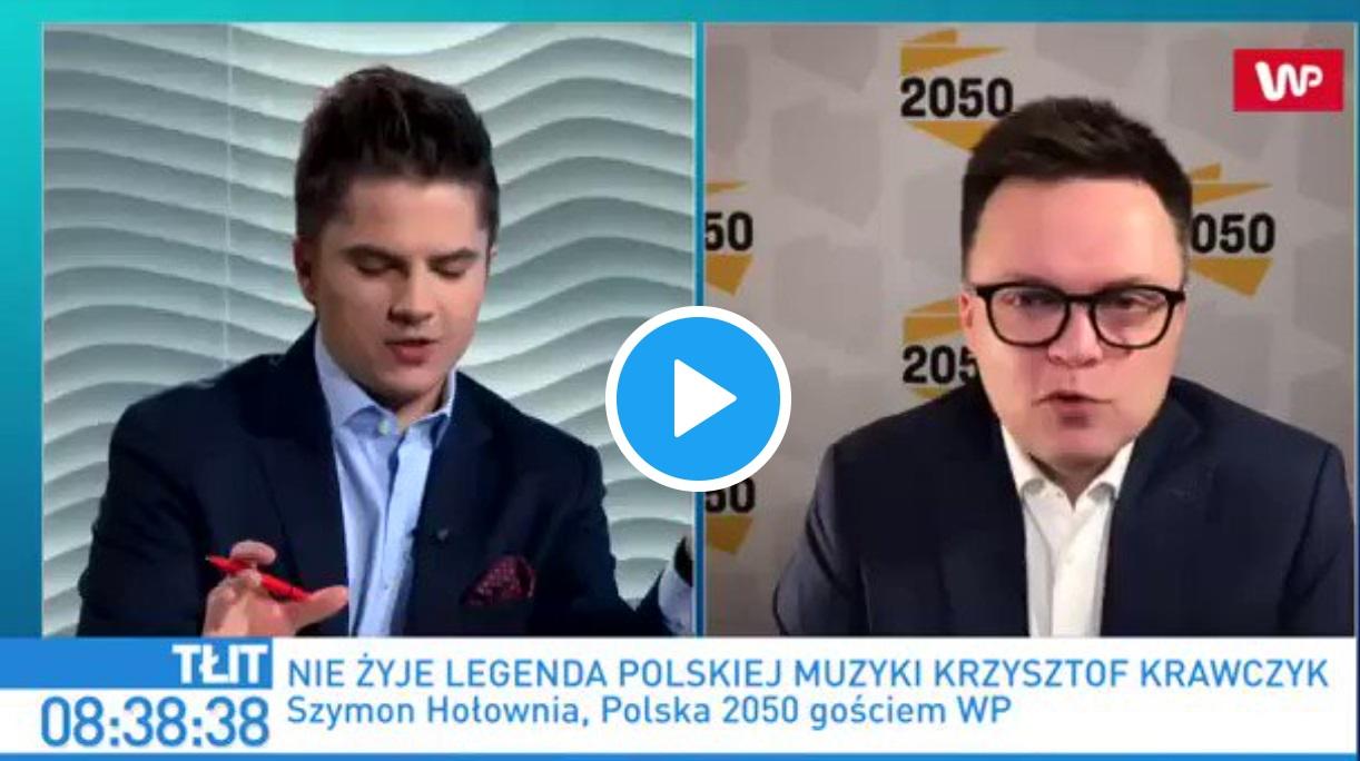 """Ukazał się w WP program """"Tłit"""" i wywiad, w którym Szymon Hołownia komentuje szczepienie i słowa PAD, czy to celowa manipulacja?"""