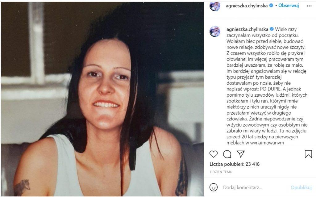 Agnieszka Chylińska opowiedziała o najbardziej intymnej rzeczy jaka jest dziewictwo, wyznała także jak je straciła i z kim