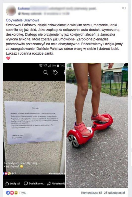 9-letnia Janka chciała zarobić na swoja wymarzoną elektryczną deskorolkę sprzątaniem samochodów. Gdy natrafiła na tego klienta, zdębiała.