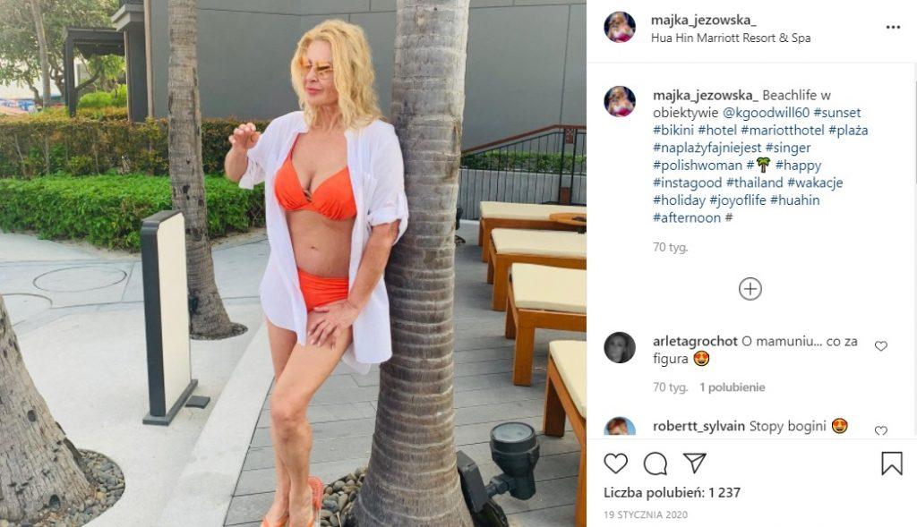 Trzeba przyznać, że Majka Jeżowska w bikini wygląda oszałamiająco!