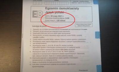 """""""Wyciek egzaminu ósmoklasisty z języka polskiego"""" to tytuł filmu, który w serwisie wykop zrobił prawdziwą furorę."""
