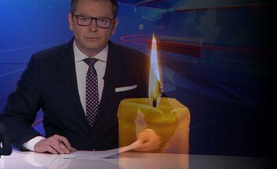 """Podczas emisji serwisu """"Wiadomości"""" przekazano smutne wieści, nie żyje Wiktor Kałuziński od lat związany z TVP, zmarł na koronawirusa."""