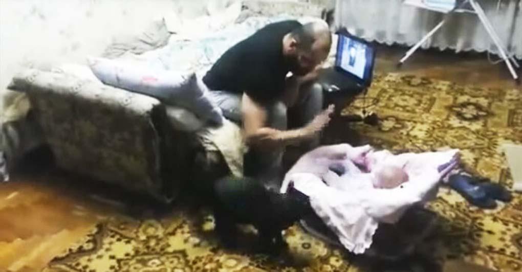 """Ten uchwycony na nagraniu kot """"obronił"""" dziecko i zyskał sympatię internautów. Niesamowite nagranie bije rekordy popularności"""