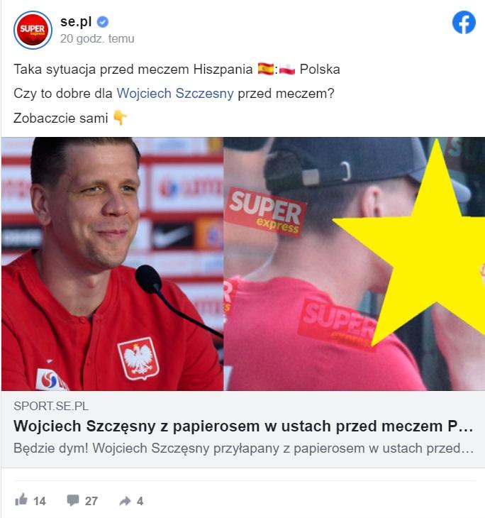 Po tym jak Wojtek Szczęsny zdecydowanie nie popisał się podczas ostatniego meczu reprezentacji, teraz znowu jest na językach