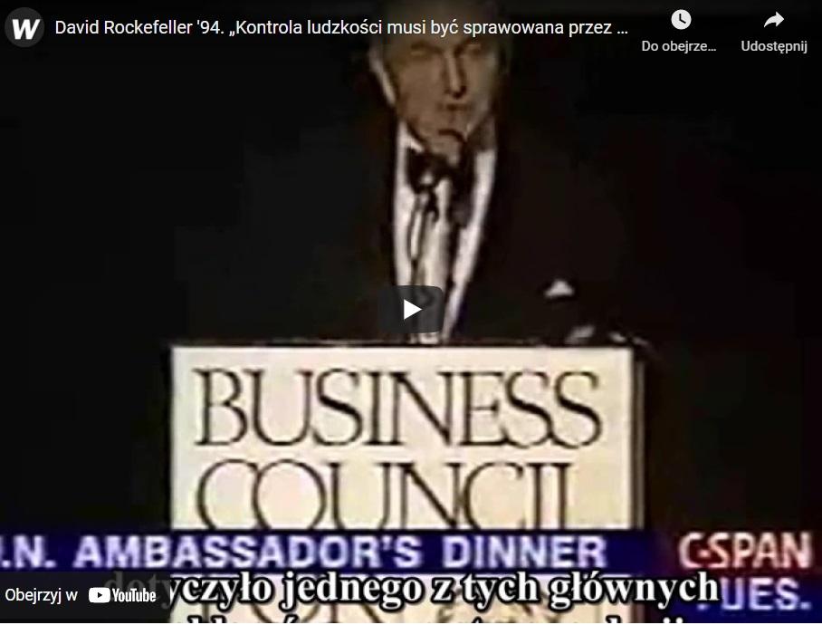 """Podczas konferencji David Rockefeller przedstawił plan globalnego rządu, który """"pomoże"""" naszej planecie. Jak ustalono na szczycie ONZ"""