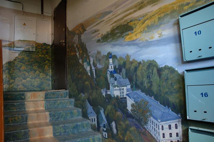 malowidła na klatce schodowej