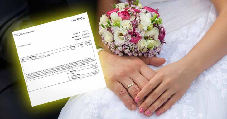 """Gość dostał on od pary młodej rachunek za wesele na bagatela 240 dolarów. Jaki był powód takiego """"wyróżnienia""""? Sprawa podzieliła internautów"""